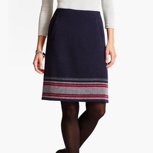 Talbots Stripe-border A-line Skirt
